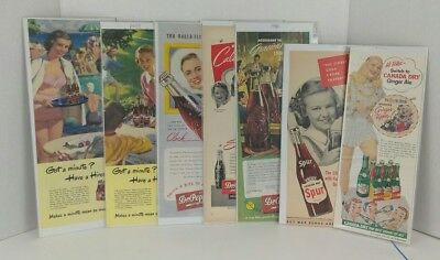 Vintage Misc Lot of 7 Soda Magazine Advertising Print Ads HIRES DR. PEPPER MORE.