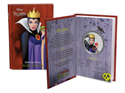 2018 Niue Disney Villains Evil Queen 1 oz Silver Colorized Proof $2 OGP SKU53804