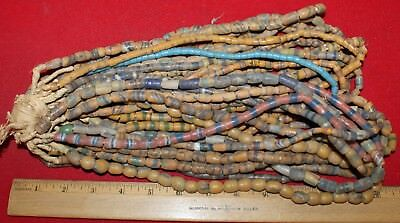 Bundle of (20) Strands of Sandcast Trade Beads #8....Buy It Now