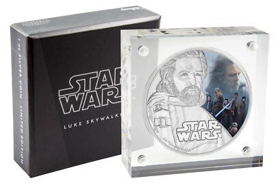 2017 Niue Star Wars: Last Jedi Luke Skywalker 1 oz Silver Proof $2 OGP SKU49207