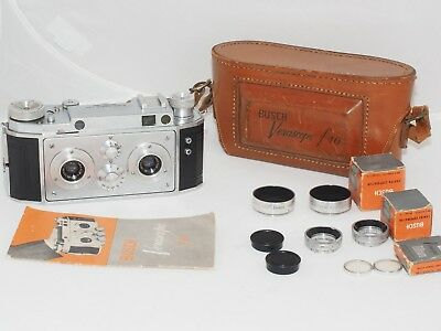 Bush Verascope f40 35mm film stereo 3D camera w/case. Made by Richard in Paris.