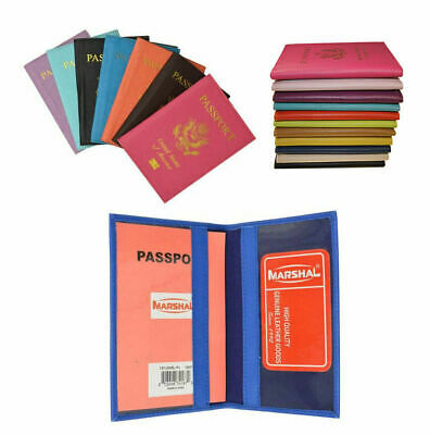 Leather US Passport Holder Cover Wallet Travel Organizer Protector Card Case