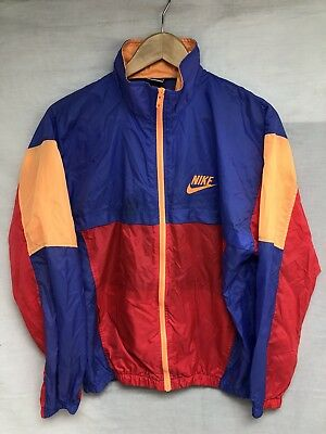 Vtg 90s Nike Grey Tag Jacket Coat Windbreaker Youth XL Men's Small