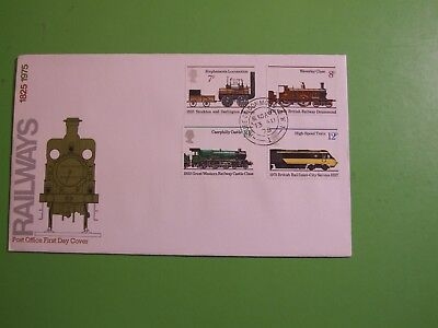 Gb Stamps 1975 Cover Fdc Railways,  House Of Commons Double Ring Cds . See Post