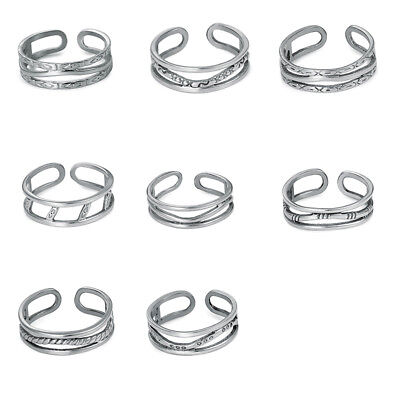 316L Stainless Steel Silver Women Ladies Open Adjustable Fashion Foot Toe Rings
