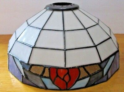 Vintage Tiffany Style Stained Glass Pendant Hanging Light Fixture LAMP SHADE 12""