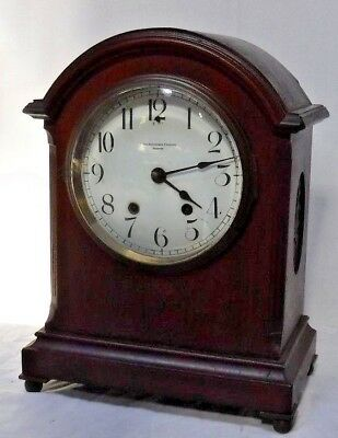 Antique Smith Patterson Boston Seth Thomas Chime Key-Wind Bracket Clock Working