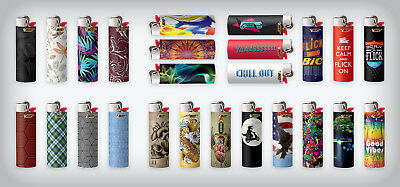 BIC Full Size Limited Special Edition Disposable Lighters Assorted Styles (10)