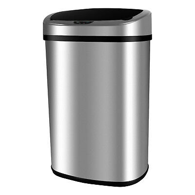 Mecor 13 Gallon Touch-Free Sensor Automatic Stainless-Steel Trash Can Kitchen