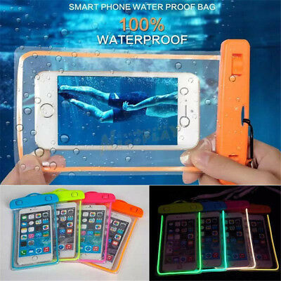 Underwater Luminous Pouch Waterproof Dry Bag Case Cover For iPhone Smart Phone