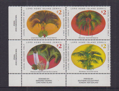 Lord Howe Island 2001 $8 Palms COURIER POST-Cinderella/Local -Block 4 -MUH