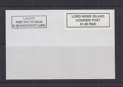 Lord Howe Island 1999 $1.80 PAID P & S Emergency LABEL-Cinderella/Local- on FDC