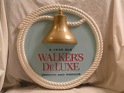 Walker's Deluxe Plastic Whiskey Sign, By Hiram Walker & Sons, Peoria,il