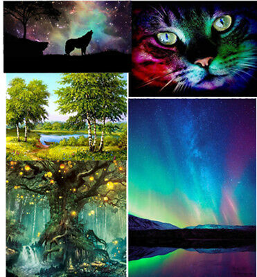 5D Full Cat Nature Diamond Embroidery Painting Cross Stitch DIY Picture Decor
