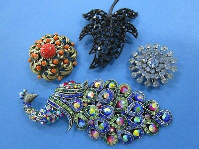 Ladies Brooches x 4 Different styles and Designs