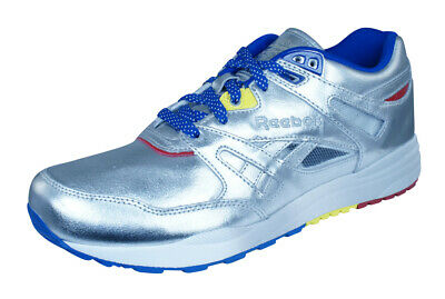752698cd1b3 Mens Reebok Classic Trainers Ventilator Affiliates Leather Retro Shoes -  Silver