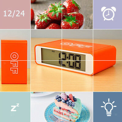 Multi-features LCD Digital Alarm Clock - Work Day, 3 Alarm, Snooze, Charging
