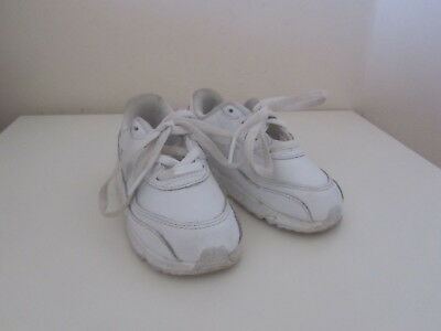 hot sale online f12aa 7f018 Vgc Nike Air Max White Leather Infant Trainers Size 6.5 Uk Unisex