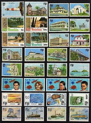 FIJI, 32 MUH Stamps, Full and Part Sets, 1970-80's Era, GC Lot101