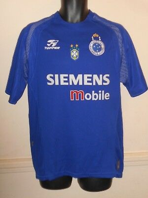 ca82c541022 CRUZEIRO BRAZIL HOME Shirt 2004 large men's #999E - £32.99 | PicClick UK