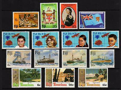 FIJI, 15 MUH Stamps, Full and Part Sets, 1970-80's Era, GC Lot104