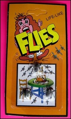 Bulk Lot 10 Packs Life-Like Insects FLIES Party Favor Gag Novelty Toy FREE POST
