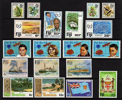 FIJI, 19 MUH Stamps, Full and Part Sets, 1970-80's Era, GC Lot105