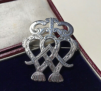 Beautiful Antique Victorian Sterling Silver Luckenbooth Brooch/pin