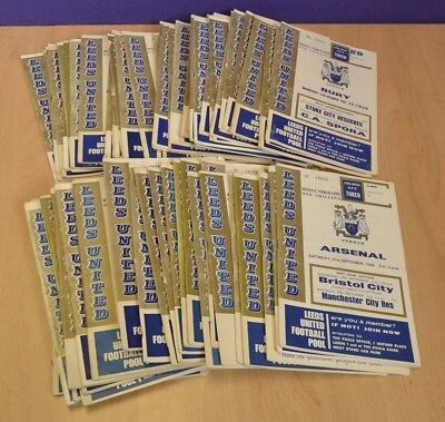 Big Job Lot of Vintage Leeds United Football Programmes 1966 to 1969