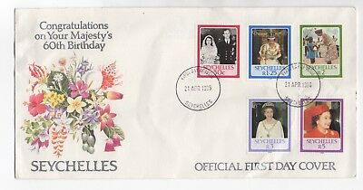 1986 SEYCHELLES First Day Cover QEII 60th BIRTHDAY Victoria