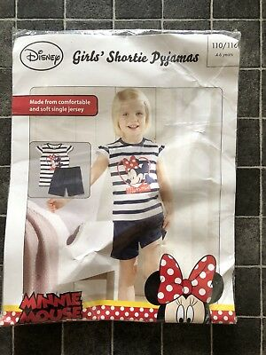 Girls Shortie Summer Pyjamas Disney Minnie Mouse girls age 4 6 years New Tags