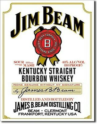 Jim Beam White Label metal sign (de)