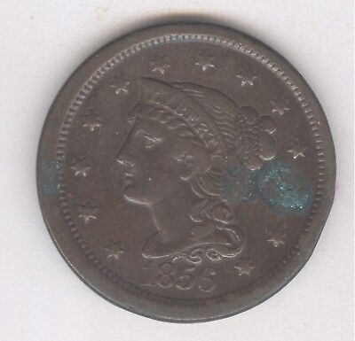 1856 Braided Hair Large Cent + Nice Circ + No Reserve!