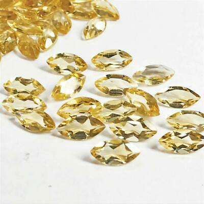 Wholesale Lot of 10x5mm Marquise Cut Natural Citrine Loose Calibrated Gemstone