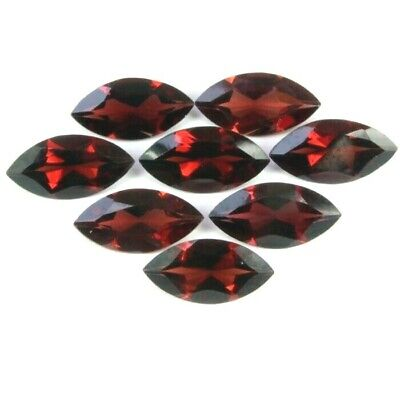 Lot of 5x2.5mm & 6x3mm Marquise Cut Mozambique Garnet Loose Calibrated Gemstone