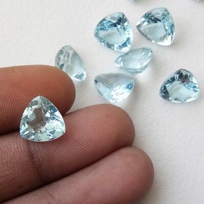 Wholesale Lot of 6mm Trillion Cut Natural Blue Topaz Loose Calibrated Gemstone