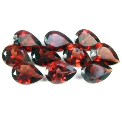 Wholesale Lot of 7x5mm Pear Facet Mozambique Garnet Loose Calibrated Gemstone