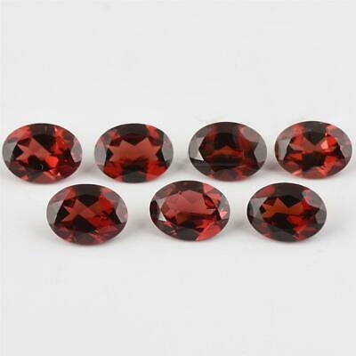 Wholesale Lot of 8x6mm Oval Facet Mozambique Garnet Loose Calibrated Gemstone