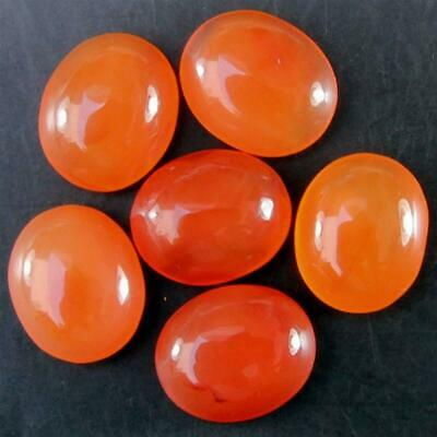 Wholesale Lot 10x8mm Oval Cabochon Natural Carnelian Loose Calibrated Gemstone