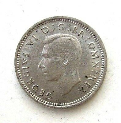 Great Britain Uk Coins, Threepence 1940, George Vi, Silver 0.500