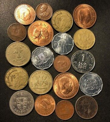 Old Africa Coin Lot - 1936-Present - 20 UNCOMMON Type Coins - Lot #613