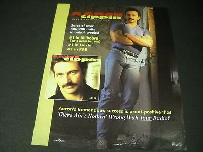 AARON TIPPIN leaning with muscular arms folded across chest 1992 PROMO POSTER AD