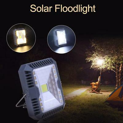 Solar Floodlight Spotlight 3 Modes USB Rechargeable Working Camping Lamp