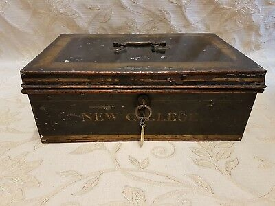 Very Large Vintage Collectable Cash Money Box With Lock