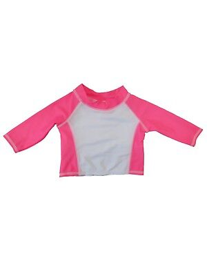 86ca752c66381 Infant Girls Long Sleeved Pink Baby Rash Guard Shirt Swim Suit Cover Up