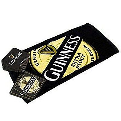 Guinness Bar Towel and 10 Beermats (sg) Official Guinness Licensed Product