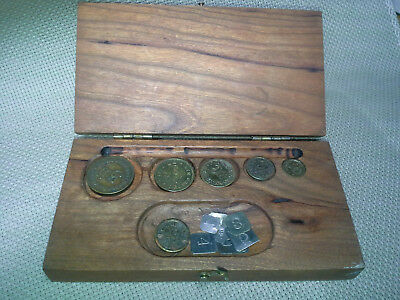 Henry Troemner Apothecary Balance Scale Pharmacy Weight Set, Nice Mahogany Case