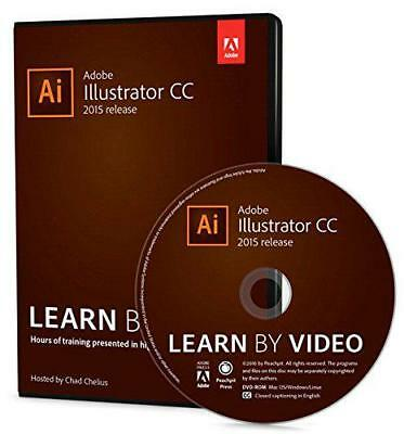 Adobe Illustrator CC Learn by Video 2015 by Chelius, Chad, NEW Book, FREE & FAST