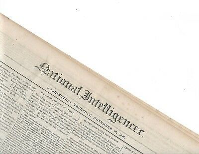 1846 MEXICAN WAR NEWSPAPER. MONTEREY - NEW MEXICO - ESTATE SALE w 40-50 NEGROES