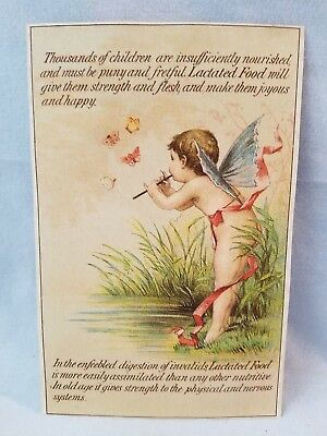 Late 1800's Fairy Trade Card Wells, Richardson & Co's. Lactated Food Infants NR